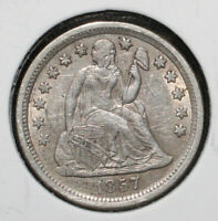 1857 SEATED LIBERTY SILVER DIME - 05902