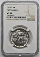 1926 S OREGON TRAIL COMMEMORATIVE HALF DOLLAR 50C NGC MS 65
