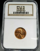 1954 D LINCOLN WHEAT CENT PENNY COIN NGC MINT STATE 66 RED COMBINED SHIPPING DISCOUNTS