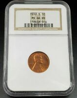 1939 S LINCOLN WHEAT CENT PENNY COIN NGC MINT STATE 66 RD COMBINED SHIPPING DISCOUNTS
