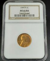 1941 S LINCOLN WHEAT CENT PENNY COIN NGC MINT STATE 66 RD COMBINED SHIPPING DISCOUNTS