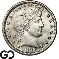 1899 BARBER QUARTER NICE BRILLIANT UNCIRCULATED   SILVER 25C