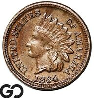 1864 INDIAN HEAD CENT PENNY COPPER NICKEL CHOICE XF BETTER D