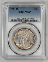 1937 D WALKING LIBERTY HALF DOLLAR 50C PCGS MINT STATE 65 MINT STATE UNCIRCULATED 986