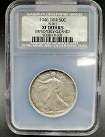 1946 WALKING LIBERTY HALF DOLLAR VARIETY COIN NGC NCS EXTRA FINE  DETAILS DDR FS-801 011