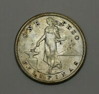 1907 S PHILIPPINES SILVER ONE PESO   140745J