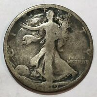 1919 WALKING LIBERTY SILVER US HALF DOLLAR. GOOD. Q1