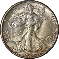 1934-P WALKING LIBERTY HALF PCGS MINT STATE 66  EYE APPEAL  LUSTER STRONG STRIKE