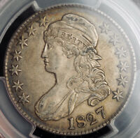 1827 UNITED STATES. SILVER CAPPED BUST HALF DOLLAR  50 CENTS  COIN. PCGS XF