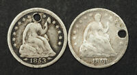 1853/1858 UNITED STATES. SILVER