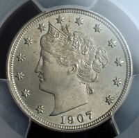 1907 UNITED STATES. BEAUTIFUL LIBERTY HEAD NICKEL  5 CENTS  COIN. PCGS MS 64