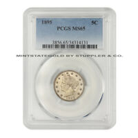 1895 5C LIBERTY HEAD NICKEL PCGS MINT STATE 65 GEM GRADED V FIVE CENT PHILADELPHIA COIN