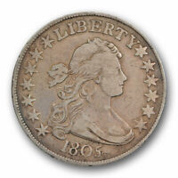 1805/4 50C DRAPED BUST HALF DOLLAR FINE TO  FINE STRONG OVERDATE VARIETY