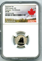 2020 CANADA 10 CENT NGC SP69 FIRST RELEASES SPECIMEN BLUENOS
