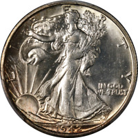 1942-S WALKING LIBERTY HALF PCGS MINT STATE 65  EYE APPEAL FANTASTIC LUSTER