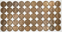 1932 D LINCOLN WHEAT CENT PENNY 1C VF / VF    FINE PLUS FULL ROLL 50 COINS