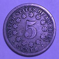 1867 SHIELD NICKEL   GOOD DETAIL   GOOD DATE
