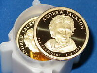 2008-S PRESIDENTIAL DOLLAR ANDREW JACKSON ROLL OF 20 COINS