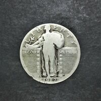 1927-S STANDING LIBERTY SILVER QUARTER 25C G CONDITION LOW MINTAGE SN1255