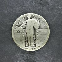 1926 STANDING LIBERTY SILVER QUARTER 25C VG CONDITION LOW MINTAGE SN1258