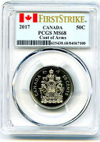 2017 CANADA 50 CENT PCGS MS68 FIRST STRIKE COAT OF ARMS HALF