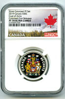 2019 CANADA 50 CENT SILVER COLORED PROOF NGC PF70 UC HALF DO
