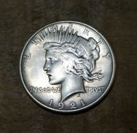 1921 PEACE SILVER DOLLAR KEY DATE US COIN US MINT $1.00 RARE