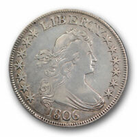1806 50C DRAPED BUST HALF DOLLAR  FINE TO EXTRA FINE DETAILS POINTED 6, STEM