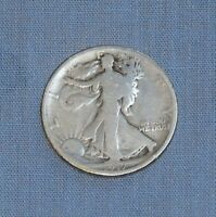 1917 LIBERTY WALKING HALF DOLLAR - VINTAGE U.S. CURRENCY 50-CENT SILVER COIN