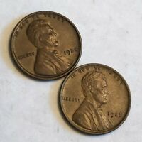 TWO AU-UNC EARLY LINCOLN WHEAT CENTS, 1924 & 1926.  LG1