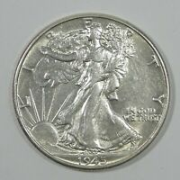1945 WALKING LIBERTY HALF DOLLAR ALMOST UNCIRCULATED SILVER 50C