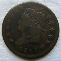 1811 CLASSIC HEAD LARGE CENT TOUGH DATE FINE DETAIL