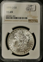 1898-O MORGAN SILVER DOLLAR.  IN NGC HOLDER.  MINT STATE 65.  G681