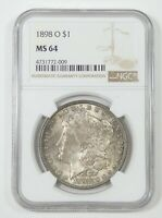 1898-O MORGAN DOLLAR CERTIFIED NGC MINT STATE 64 SILVER DOLLAR