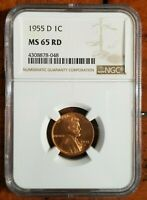 1955-D LINCOLN CENT MINT STATE 65RD [NGC]