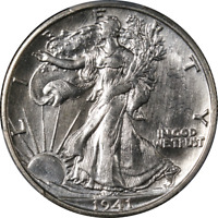 1941-S WALKING LIBERTY HALF PCGS MINT STATE 64 BLAST WHITE SUPERB EYE APPEAL  STRIKE
