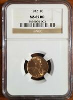 1942-P LINCOLN CENT MINT STATE 65RD [NGC CERTIFIED]