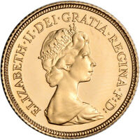 GREAT BRITAIN GOLD 1/2 SOVEREIGN .1177 OZ ELIZABETH II YOUNG HEAD BU RANDOM DATE