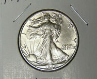 AU 1945-D WALKING LIBERTY SILVER HALF DOLLAR ABOUT UNCIRCULATED DENVER 7220