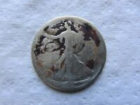 1921-D WALKING LIBERTY HALF DOLLAR CORRODED CLEANED