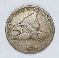 1858 FLYING EAGLE CENT WITH SMALL LETTERS  GOOD SMALL 1C
