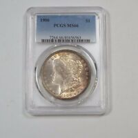 1900 MORGAN DOLLAR CERTIFIED PCGS MINT STATE 66  SILVER $ COOL TONING