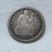 BARGAIN 1841-O SEATED LIBERTY DIME  GOOD SILVER 10-CENTS