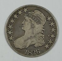 1826 CAPPED BUST/LETTERED EDGE HALF DOLLAR FINE SILVER 50-CENTS