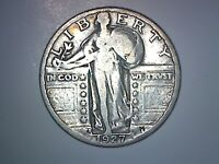 1927-S STANDING LIBERTY QUARTER VG CONDITION