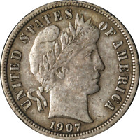 1907-S BARBER DIME GREAT DEALS FROM THE EXECUTIVE COIN COMPANY