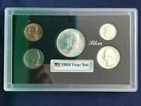 1964 UNITED STATES FIVE COIN SILVER YEAR SET