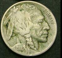 USA 1916 5 CENTS BUFFALO NICKEL OLD COIN ROTATED DIE FINE