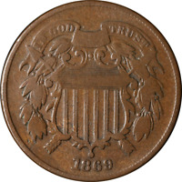 1869 TWO 2 CENT PIECE GREAT DEALS FROM THE EXECUTIVE COIN COMPANY