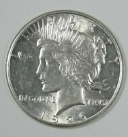 1926-S  PEACE DOLLAR ALMOST UNCIRCULATED SILVER DOLLAR
